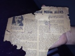 WWII Newspaper Clipping