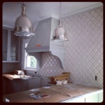 Kitchen backsplash - beveled arabesque tile